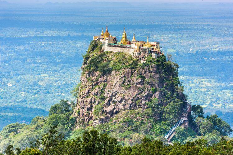 Mont Popa en Birmanie