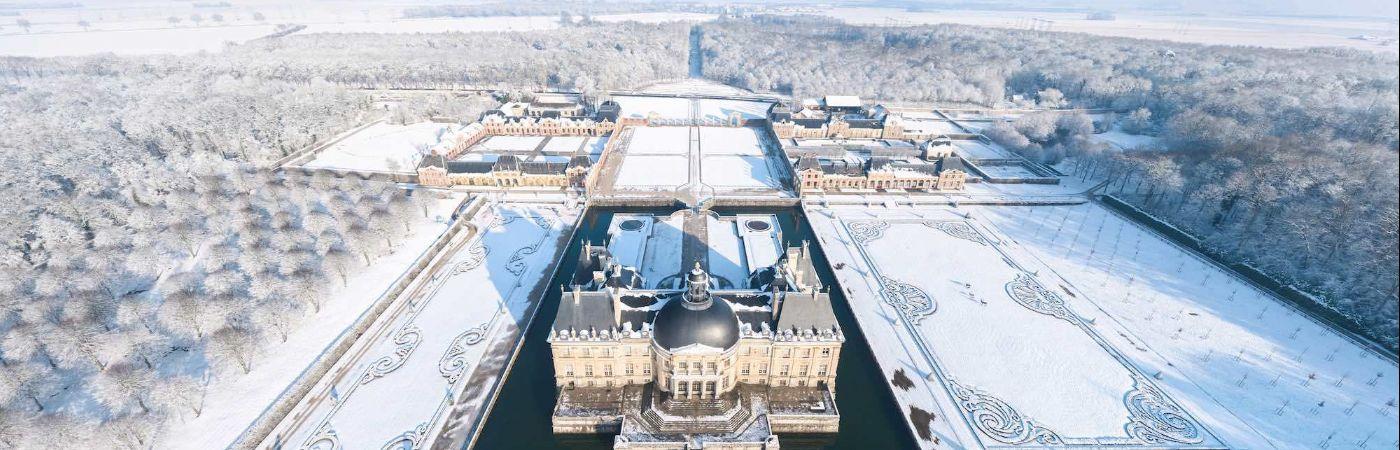 Château de Vaux-le-Vicomte sous la neige