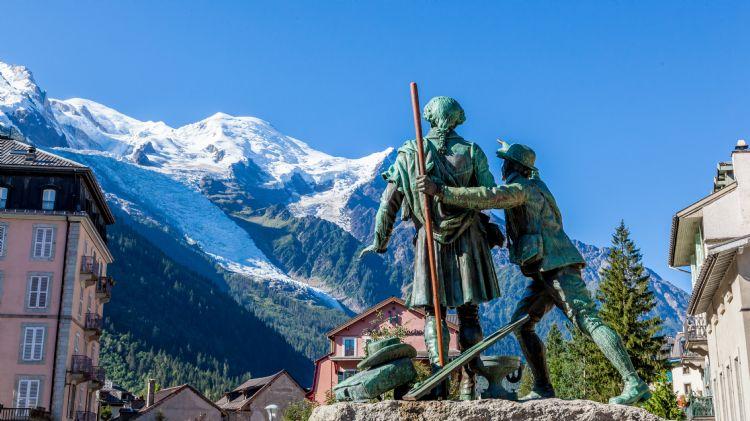 Le Mont Blanc depuis Chamonix
