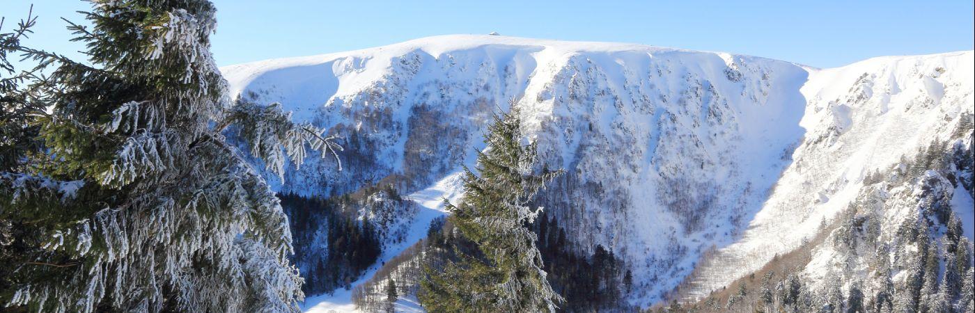 Les Vosges et le Hohneck en hiver